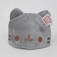 Wholesale Cat Hat Plush - Pusheen Cat Hat Plush Stuffed Doll Animals Winter to keep Warm Cap Toys For Child Best Gifts (Size : 28x20cm ) -D032