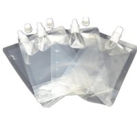 Wholesale Milk Stands - 250ml Stand-up Plastic Drink Packaging Bag Spout Pouch for Juice Milk Coffee Beverage Liquid Packing bag