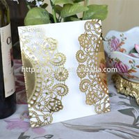 Wholesale Laser Cut Wedding Invitations China - Wholesale-2016 unique flower paper wedding Laser cut Invitations cards for wedding, china laser cut invitations wholesale