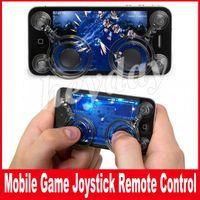 ingrosso pod mobile-Joystick mobile Dual joystick analogici Smart Clip per iPhone Samsung samrtphone gaming iPad pod Touch per schermo da 4,7