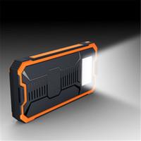 taschenlampe bankaufladung großhandel-Großhandel Neue Heiße Verkauf 50000 mAh Solar Power Bank Tragbare Externa Solar Battery LED Taschenlampe Lade Batterie für Digital Produkte