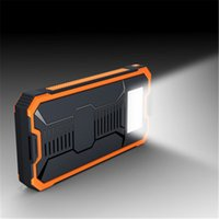 externe batterieladegerät solarzelle großhandel-Großhandel Neue Heiße Verkauf 50000 mAh Solar Power Bank Tragbare Externa Solar Battery LED Taschenlampe Lade Batterie für Digital Produkte