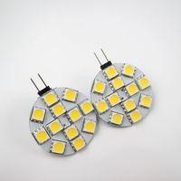 Wholesale 12v Mini Led Bulbs - LED G4 Light Bulb G4-5050-12SMD Round Lights High Power 2.5w Led Car Bulb SMD 5050 120 Degree Mini Lampe G4 Bulb 12v Led Dimmable Bulbs