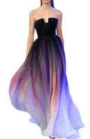 seksi kıyafetler modelleri toptan satış-2019 Yeni Deisgn Straplez A-line Kadınlar Gelinlik Modelleri Mahkemesi Tren Renkli Model Abiye Backless Kanat Vestido de Fiesta Parti törenlerinde