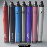 Authentische Vision Spinner 2 1650mah Vision Spinner II Variable Spannung 3.3-4.8V Batterie eGo / 510 Faden ECig