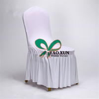 Wholesale Cheap Spandex Chair Covers Wholesale - 50pcs Sale Good Looking Bottom Ruffled Lycra Spandex Chair Cover \ Cheap Wedding Chair Covers
