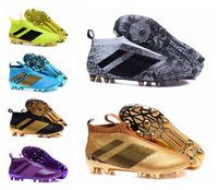 Wholesale Cheap Steel Spikes - 2016 Newest Wholesale ACE 16+ PureControl FG 2016 Men's Soccer Shoe boots cheap Performance Mens ace 16 soccer cleats football shoes
