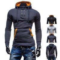 Wholesale Double Fleece - Wholesale- Hot Sale Winter Autumn New Designer Hoodies Men Fashion Brand Pullover Sportswear Sweatshirt Men's Tracksuits Assassins Creed
