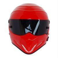 Wholesale Red Fiberglass - Top quality Full face Fiberglass SIMPSON Motorcycle Helmets The STIG Helmet Motorbike Kart Casco Capacete DOT approved Red
