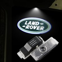 Wholesale Freelander Range Rover - LED Car Door Logo Light For LAND ROVER Range Rover Discovery 3&4 Freelander 2 Evoque Ghost Shadow Courtesy Laser Projector Lamp