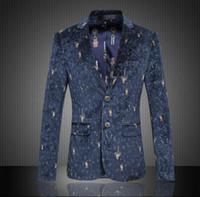 Wholesale Men High Fashion Dress Clothes - P017 New Arrive Blazer Men's Fashion Dress Suits High Quality Clothes Hot Sale Casual Jacket men suit slim fit Single-breasted printing Suit