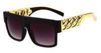 lunettes de soleil kim kardashian achat en gros de-Kim Kardashian Original Lunettes de Soleil Beyonce Célébrités Style Flat Top Oculo Retro Hommes Femmes LUNETTES Chaîne Twisted Riskier STYZT9941