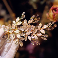 Vintage Wedding Bridal Crystal Hair Clip Flower Headpiece Cabelo Acessórios Crown Rhinestone Tiara Jóias Party Prom Headdress Atacado