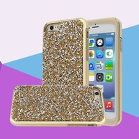 Pour iPhone 5 5S 5SE 6 6 Plus 7 7 Plus Samsung Galaxy S8 S8Plus Cas Bling Flash Forage 2 en 1 Série Cas