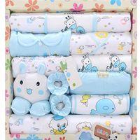 Wholesale Baby Suits Newborn Gift Set - Wholesale- new 2015 100% cotton newborn baby clothing sets 18pcs infants suit baby girls boys clothes Xmas gift infant clothing set