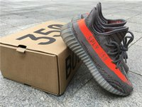 Wholesale Fabric Charcoal - ORIGINAL BOOST 350 V2 STEGRY BELUGA 1.0 BB1826 SOLRED ROUSOL Grey Orange Running Shoes CHARCOAL GREY GRIS Triple White Outdoors Sneakers