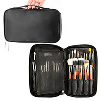 Wholesale Artists Bags - Professional Cosmetic Case Makeup Brush Organizer Makeup Artist Case with Belt Strap Holder Multi functional Cosmetic Bag Makeup Handbag