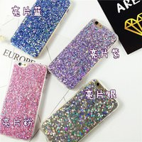 Wholesale Transparent Glue Iphone Case - NEW Glitter Bling Platinum Fragment clear Transparent Glue the gold foil Soft Tpu Case for Iphone 5 6 7 plus Samsung S6 S7 edge Note5