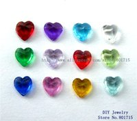 Wholesale wholesales mix color heart mm birthstone floating charm for memory love locket as Mom Dad sister brother grandma gift