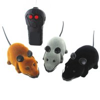 Wholesale Play Rc - 50pcs lot Remote Control Wireless controller RC Rat mouse mice hameln animal toys For Cat Dog kitten teaser playing Pet Toy Novelty Funny