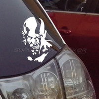 Wholesale Car Gods - Car stickers God of war Kratos waterproof decals Reflective film carved car window stickers personalized stickers PET