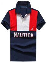 Wholesale Camisa American Shirts - Fashion Mens polo shirt nautica brands European & American style Tennis Golf lapel cotton polo shirts men camisa polos M-XXL