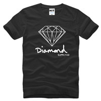 Wholesale Skate Mens - New Summer Cotton Mens T Shirts Fashion Short-sleeve Printed Diamond Supply Co Male Tops Tees Skate Brand Hip Hop Sport Clothes