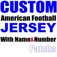 Wholesale Pls Hockey - Custom American Football Jersey With Name Patch Number Any Team Shirt Red Black White Blue Orange Clothes Souvenirs Need Help Pls Contact us