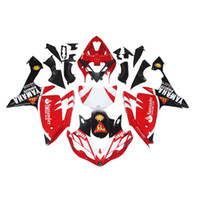 blanco yamaha r1 plastico al por mayor-3 regalos gratis Carenados completos para Yamaha YZF 1000 YZF R1 2007 2008 Inyección Plástico Motocicleta Kit completo carenado Rojo Negro Blanco b9