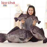 Wholesale stuffed plush fish for sale - Group buy 1pcs cm New crucian fish Pillow Stuffed Plush Animal Fish Toy little fish Stuffed Dolls Valentines for Baby Kids