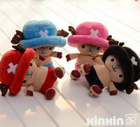 "Wholesale Chopper One Piece Stuffed Toy - Wholesale- 1pcs 8"" 20cm Hot Selling One Piece Joba Chopper McDonald's Ornaments Plush Toys Stuffed Doll Kawaii Toys For Kids"