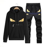 Wholesale Mens Hoddies - Wholesale-Print Hoddies For Men Zipper Design Men's Sweatshirt Full Sleeve Mens Tracksuit Set Streetwear survetement homme marque 2015