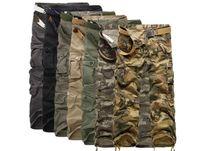 Wholesale Wholesale Combat Trousers - 15pcs 7 COLORS Worker Pants CHRISTMAS NEW MENS CASUAL MILITARY ARMY CARGO CAMO COMBAT WORK PANTS TROUSERS M033