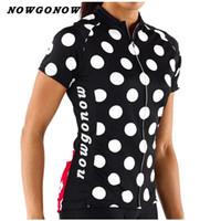 Wholesale Dot Jersey - Women Customized NEW 2017 Dots Black Bike mtb road RACE Team Funny Pro Cycling Jersey   Shirts & Tops Clothing Breathing Air JIASHUO