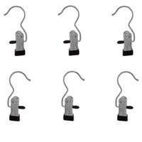 Wholesale Tie Piece Clip - Portable Laundry Hook, Stainless steel Travel Home Clothing Boot Hanger Hold Clips (12 Pieces Lot)