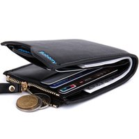 Wholesale Document Holder Purse - Hot Sale Baborry Fashion Design Mens Wallets Carteira Black Brown Color Quality Documents ID Credit Card Holder Zipper Pocket Coins Purse