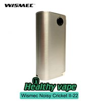 Wholesale Cricket 22 - Original Wismec Noisy Cricket II-22 Mod Cricket 2 - 22 Box Mod fit Replaceable 18650 Cells 510 Thread VS Wismec RX2 3
