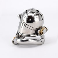 Wholesale Steel Chastity Cage Catheter - Male Chastity Cage Stainless Steel Chastity Belt Penis Restraint with 4 Arc Base Activities Lock Ring Adult Toys For Men