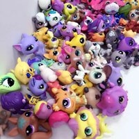 "Wholesale Lps Animals - Little Pet Shop 2.4"" LPS Toys Animal Cartoon Cat Dog Action Figures Collection toys for kids,mixed styles ship out random"