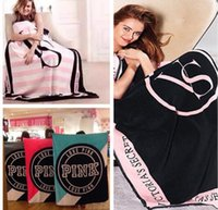 Wholesale Wholesale Air Conditioner Cover - VS Pink Blanket Towel Fleece Blanket 130*150cm Air Conditioner Cover Travel Beach Towel Sofa Pink Green