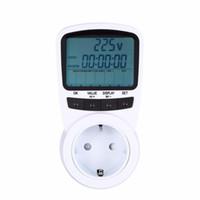 Wholesale Eu Monitor Electricity - Freeshipping Electronic Energy LCD Energy Monitor Plug-in Electricity Measuring instrument US UK EU AU Plug