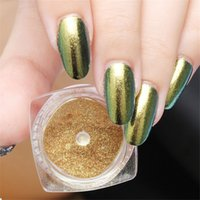 2g / Box Gold Sliver Nail Glitter Powder Shinning Nail Art DIY Chrome Pigment Glitters Nail Art Mirror Effect Glitters Dust BN141
