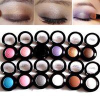 Wholesale blue minerals - Wholesale- Cheap Makeup Palette 14 Colors Waterproof Long Lasting Shinee Eye Pigments Glitter Shimmer Eyeshadow Palette Mineral Makeup