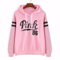 Wholesale Ladies Hoodie Fleece Jackets - Autumn ladies Monogrammed Sweater Hoodie fleece jacket with long sleeves