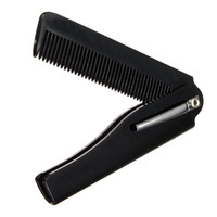Wholesale folding clip - Wholesale- Hot Fashion Mens Womens Handmade Folding Pocket Clip Hair Moustache Beard Comb