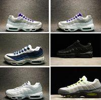 Wholesale Eur Size 46 - 2017 Wholesale Running Shoes Men women Cushion 95 Sneakers Boots Authentic Maxes 95 Walking Outdoor Sports Shoes Size Eur 36-46