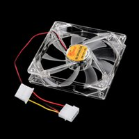 Wholesale Computer Cooling Fan Blue - Wholesale-Wholesale Store 4 LED UN2F 120MM Blue Sleeve Bearing Technology Cooling Fans for Computer PC Case