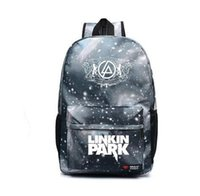 Wholesale Music Bowl - Teenagers Harajuku Canvas School Backpacks Galaxy Rock Music Linkin Park Printing Shoulder Bag Gift For Kids Mochila