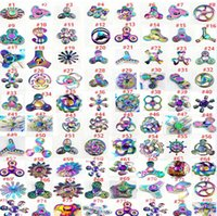 Wholesale Fingers Music - Christmas Fidget spinners rainbow new metal Fidget Spinners Hand Spinners Finger EDC Toys Spins Tri-Spinner Spiral Gyro EDC Fidget With Box