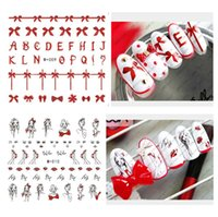 Wholesale Christmas Nail Polish Stickers - Nail Art Christmas stickers stickers Decals nail polish sticker nail art act the role ofing is tasted B0710
